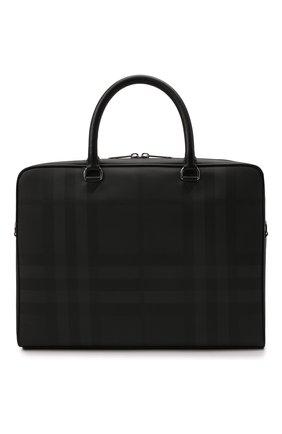 Мужская сумка для ноутбука BURBERRY темно-серого цвета, арт. 8013948 | Фото 1