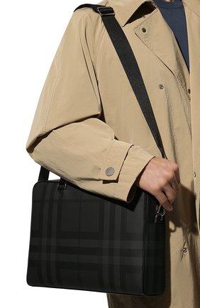 Мужская сумка для ноутбука BURBERRY темно-серого цвета, арт. 8013948 | Фото 2