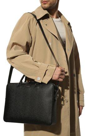 Мужская кожаная сумка для ноутбука BURBERRY черного цвета, арт. 8014265 | Фото 2