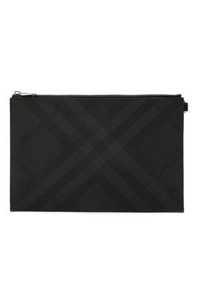 Мужская папка для документов BURBERRY темно-серого цвета, арт. 8014525 | Фото 1