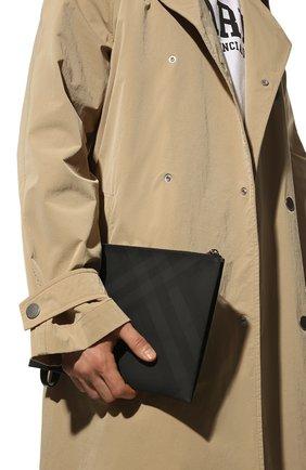 Мужская папка для документов BURBERRY темно-серого цвета, арт. 8014525 | Фото 2