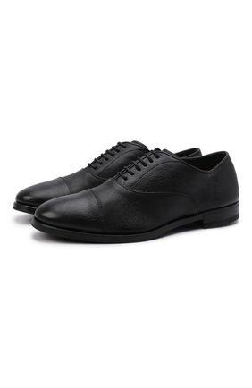 Мужские кожаные оксфорды H`D`S`N BARACCO черного цвета, арт. 58305.3* | Фото 1