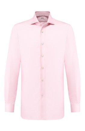 Мужская хлопковая сорочка KITON розового цвета, арт. UCIH0708510 | Фото 1