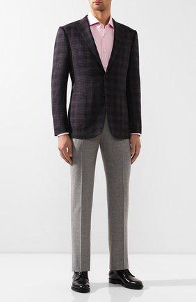 Мужская хлопковая сорочка KITON розового цвета, арт. UCIH0708510 | Фото 2