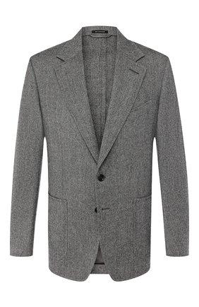 Мужской шерстяной пиджак TOM FORD серого цвета, арт. 650R00/10SP40 | Фото 1