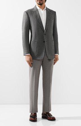 Мужской шерстяной пиджак TOM FORD серого цвета, арт. 650R00/10SP40 | Фото 2