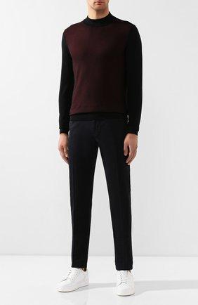 Мужской хлопковые брюки CORNELIANI темно-синего цвета, арт. 844ET7-9820159/00 | Фото 2