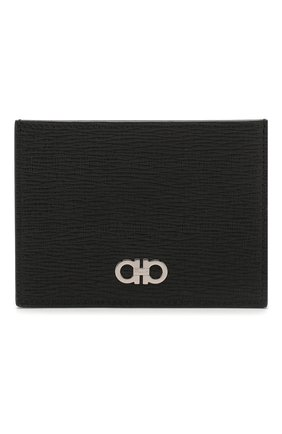 Мужской кожаный футляр для кредитных карт SALVATORE FERRAGAMO черного цвета, арт. Z-0705069 | Фото 1