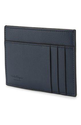 Мужской кожаный футляр для кредитных карт SALVATORE FERRAGAMO черного цвета, арт. Z-0705069 | Фото 2