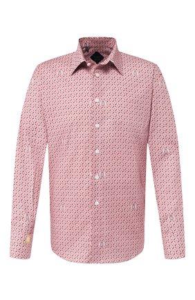 Мужская хлопковая сорочка BILLIONAIRE бордового цвета, арт. MRP1020 | Фото 1