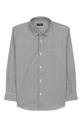 Детская хлопковая рубашка IL GUFO серого цвета, арт. A19CL110C1052/5А-8А | Фото 1