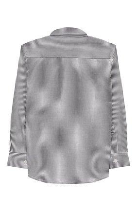 Детская хлопковая рубашка IL GUFO серого цвета, арт. A19CL110C1052/5А-8А | Фото 2