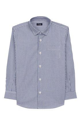 Детская хлопковая рубашка IL GUFO синего цвета, арт. A19CL110C1052/2А-4А | Фото 1