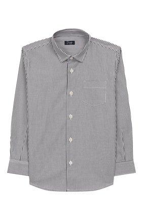 Детская хлопковая рубашка IL GUFO серого цвета, арт. A19CL110C1052/10А-12А | Фото 1