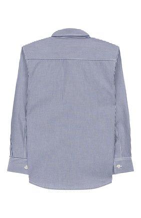 Детская хлопковая рубашка IL GUFO синего цвета, арт. A19CL110C1052/10А-12А | Фото 2