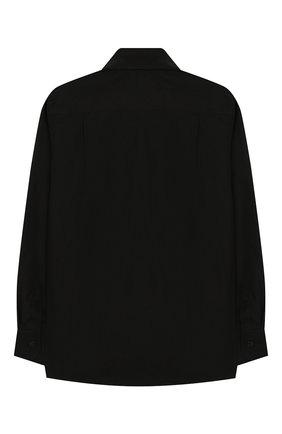 Детская хлопковая рубашка DOLCE & GABBANA черного цвета, арт. L42S95/G7SR0/8-14 | Фото 2