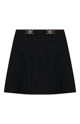 Детская шерстяная юбка GUCCI темно-синего цвета, арт. 577334/XWAF8 | Фото 1