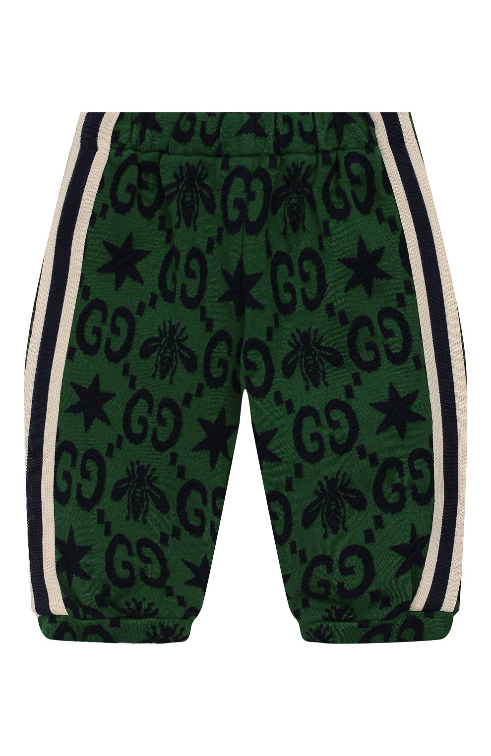 Детские хлопковые джоггеры GUCCI зеленого цвета, арт. 575043/XJA99 | Фото 1
