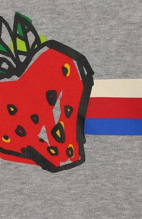Детский хлопковый свитшот GUCCI серого цвета, арт. 552396/XJBJE | Фото 3