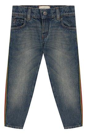 Детские джинсы GUCCI голубого цвета, арт. 548223/XDANS | Фото 1