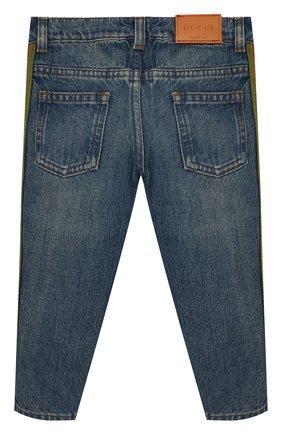 Детские джинсы GUCCI голубого цвета, арт. 548223/XDANS | Фото 2