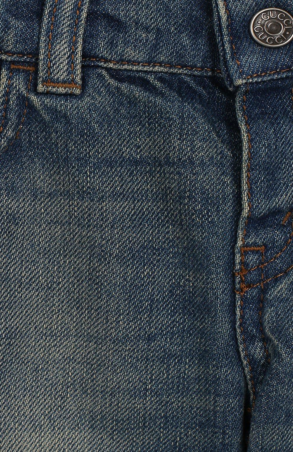 Детские джинсы GUCCI голубого цвета, арт. 548223/XDANS | Фото 3