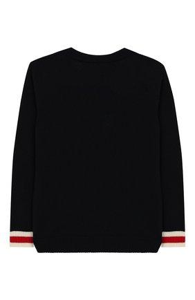 Детский шерстяной пуловер GUCCI синего цвета, арт. 418776/X1284 | Фото 2