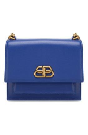Женская сумка sharp s BALENCIAGA синего цвета, арт. 580641/0D22M | Фото 1