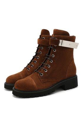 Женские замшевые ботинки GIUSEPPE ZANOTTI DESIGN коричневого цвета, арт. I970002/002 | Фото 1