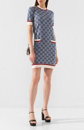 Платье из смеси шерсти и хлопка | Фото №2