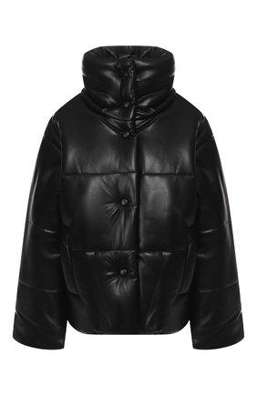 Женская куртка NANUSHKA черного цвета, арт. HIDE_BLACK_VEGAN LEATHER | Фото 1