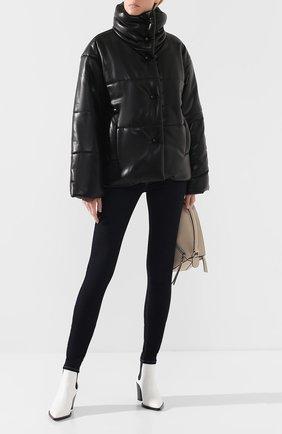 Женская куртка NANUSHKA черного цвета, арт. HIDE_BLACK_VEGAN LEATHER | Фото 2