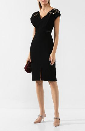 Женское платье ATELIER CAITO FOR HERVE PIERRE черного цвета, арт. C108 | Фото 2