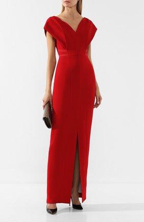 Женское платье ATELIER CAITO FOR HERVE PIERRE красного цвета, арт. C202 | Фото 2