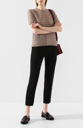 Женские кожаные пенни-лоферы TOD'S бордового цвета, арт. XXW76B0BP10THY | Фото 2