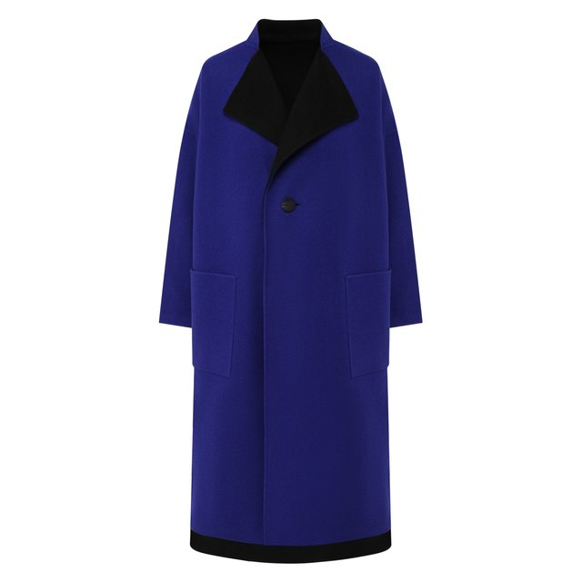 Двустороннее пальто из смеси шерсти и кашемира Issey Miyake