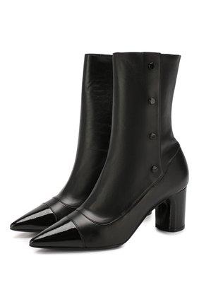 Женские кожаные ботильоны CASADEI черного цвета, арт. 1R101N0601T00069000 | Фото 1