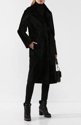 Женские кожаные ботильоны LE SILLA черного цвета, арт. 7498M080M1MMBUR | Фото 2