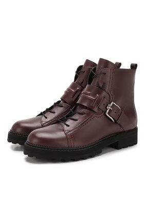 Женские кожаные ботинки TOD'S бордового цвета, арт. XXW95B0BX50NB6 | Фото 1