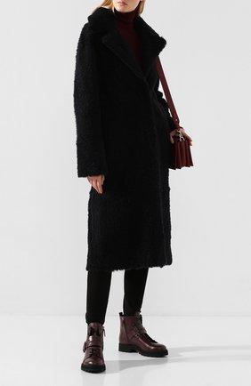 Женские кожаные ботинки TOD'S бордового цвета, арт. XXW95B0BX50NB6 | Фото 2