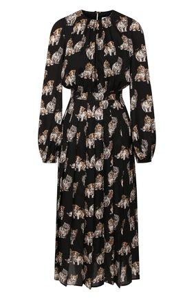 Женское платье MSGM черного цвета, арт. 2741MDA158P 195651 | Фото 1