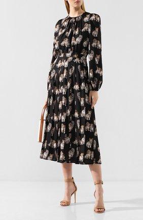 Женское платье MSGM черного цвета, арт. 2741MDA158P 195651 | Фото 2