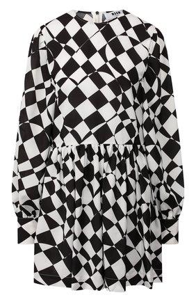 Женское платье MSGM черно-белого цвета, арт. 2742MDA142 195855 | Фото 1