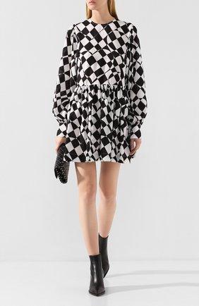 Женское платье MSGM черно-белого цвета, арт. 2742MDA142 195855 | Фото 2
