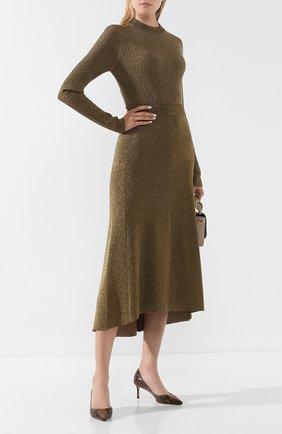 Женская кожаные туфли romy 60 JIMMY CHOO коричневого цвета, арт. R0MY 60/NKE | Фото 2
