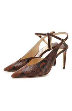 Женская кожаные туфли sakeya 85 JIMMY CHOO коричневого цвета, арт. SAKEYA 85/NKE | Фото 1