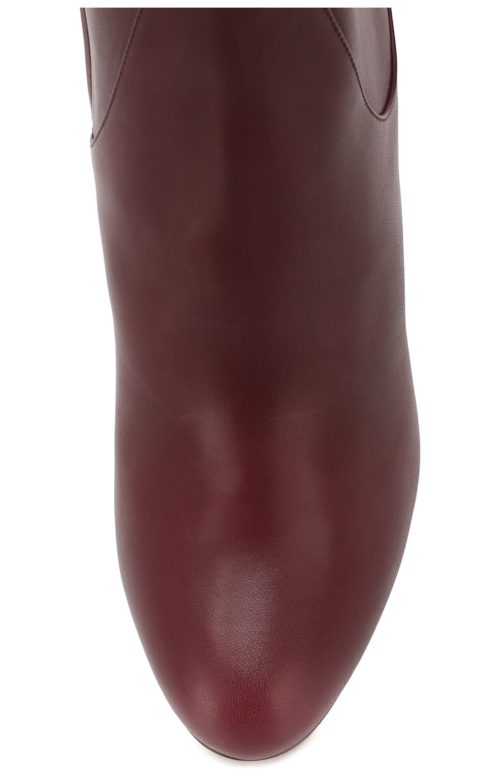 Женские кожаные сапоги temple 85 JIMMY CHOO бордового цвета, арт. TEMPE 85/CLF | Фото 5