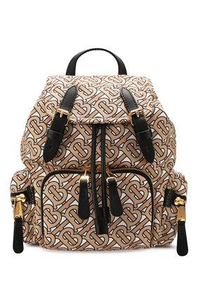 Женский рюкзак rucksack small BURBERRY бежевого цвета, арт. 8017168 | Фото 1