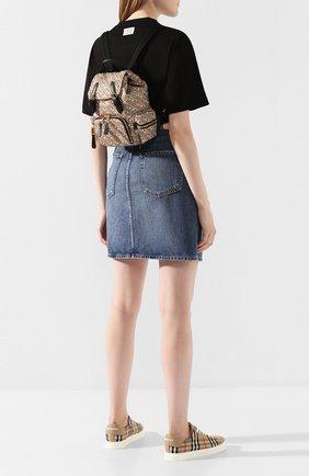 Женский рюкзак rucksack small BURBERRY бежевого цвета, арт. 8017168 | Фото 2