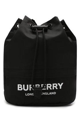 Женская сумка phoebe BURBERRY черного цвета, арт. 8015045 | Фото 1 (Материал: Текстиль; Размер: small; Сумки-технические: Сумки через плечо)